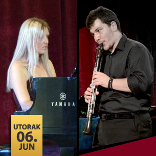 Andrija Mirković, klarinet i Anita Zdravković, klavir