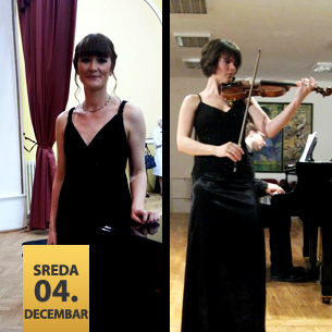 Mina Mendelson, violina Senka Simonović, klavir