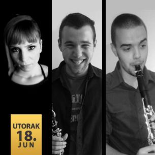 Aleksa Stojadinović,klarinet Miroslav Ćorda,klarinet Milica Micić,klavir