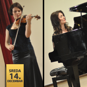 Mina Mendelson, violina i Senka Simonović, klavir
