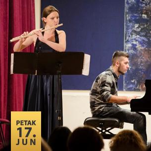 Adriana Ostrugnaj, flauta i Nikola Cvetković, klavir