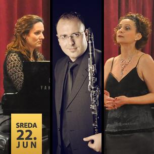 Anita Ferlež Eraković – sopran, Miloš Mijatović – klarinet i Slobodanka Pajić – klavir