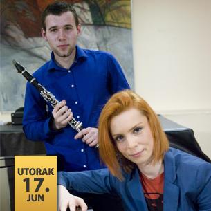 Aleksa Stojadinović, klarinet i Milica Micić, klavir